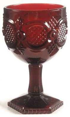Avon Ruby Red Cape Cod Glassware - water goblet