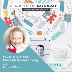 Don't sit there staring at a blank scrapbook layout for hours...use this simple tip from Emma Wood.