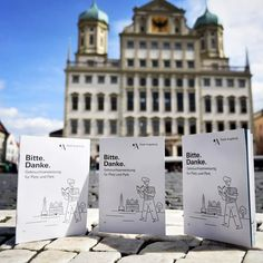 Bitte. Danke.  Gebrauchsanweisung für Platz und Park. Seid nett zu euch und eurer Stadt.  #bittedanke www.augsburg.de/bittedanke #stadtaugsburg #amoreaugsburg #augsburg #dusiehstaberhollaus