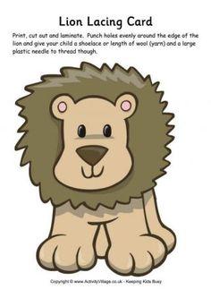 Lion Lacing Card