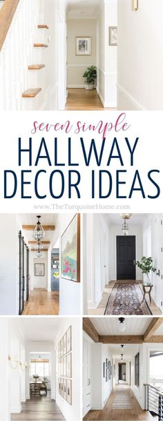 Want take your boring hallway up 10 notches? Check out these ridiculously simple hallway decor ideas for your home! #homedecoronabudget #diyhomedecor #homedecor Interior Decorating Tips, Hallway Decorating, Decorating On A Budget, Entryway Decor, Interior Ideas, Interior Design, Diy Home Decor Projects, Cool Diy Projects, Home Improvement Projects
