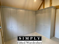 A traditional dove grey fitted wardrobe by Simply Fitted Wardrobes