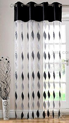 Just Contempo MODERN Eyelet Voile Panels Ring Top Voile Net Curtains Black (white silver grey) inches Apartment Curtains, Patio Door Curtains, Living Room Decor Curtains, Curtains And Draperies, Home Curtains, Contemporary Curtains, Elegant Curtains, Black Curtains, Home Organization