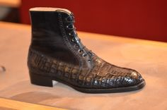 The Shoe AristoCat: Vass Laszlo - Model French Oxford Boot in exotic hide and calf leather