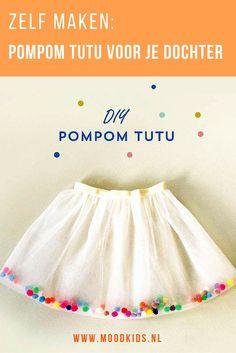 Maak deze leuke tutu met pompoms in 30 miniuten! Bekijk de tutorial op de blog