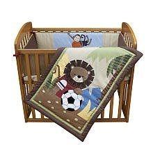 Lambs & Ivy Team Mini Crib Set, Safari Soccer