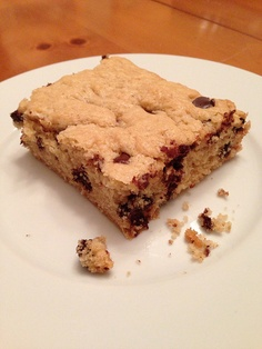 Chocolate Chip Bars from our April VegCookbook, How It All Vegan.