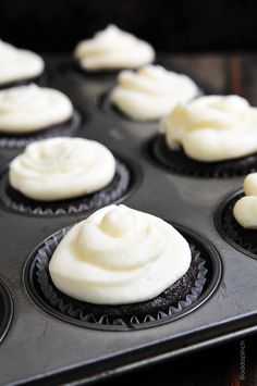 Chocolate Cupcakes with Vanilla Buttercream Frosting Recipe - Cooking | Add a Pinch