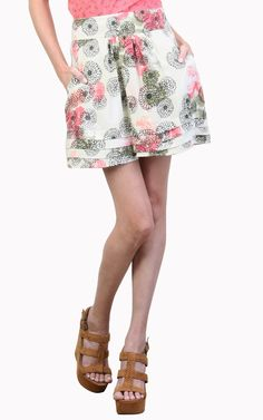 Floral Skirt with Pleated Hem - Tulle4Us.com