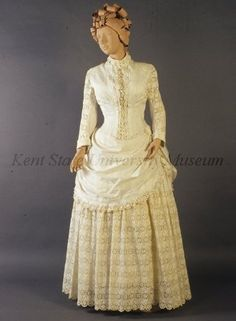 Tea dress, ca 1885 US, Kent State...it's amazing how much clothes have evolved since this time