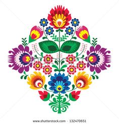 Hungarian Embroidery Patterns hungarian embroidery ideas Folk embroidery with flowers - traditional polish pattern - wycinanka, Wzory Lowickie - stock vector - - Hungarian Embroidery, Folk Embroidery, Paper Embroidery, Learn Embroidery, Embroidery Stitches, Embroidery Patterns, Machine Embroidery, Flower Embroidery, Polish Embroidery