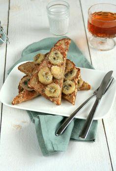 gezonde wentelteefjes met banaan