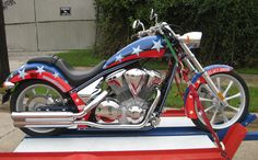 Custom Motorcycles | Custom Motorcycle vinyl wraps on a Honda Fury Chopper for Mark ...