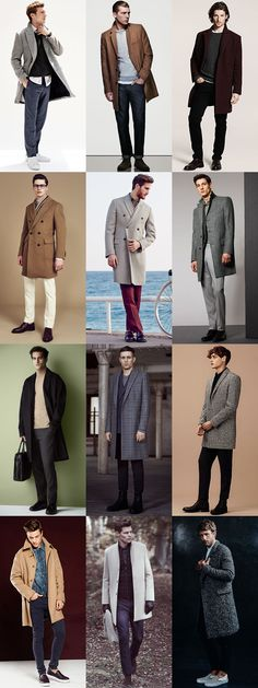 Men's Overcoat Outfit Inspiration Lookbook