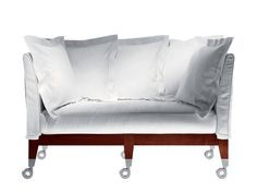 Philippe Starck Sofa - Neoz Castored Two-Seat Driade Italian Modern Fabric, Cotton, Linen, Aluminum, Mahogany Couch, Cool Furniture, Modern Furniture, Furniture Design, Furniture Chairs, Table Haute, Philippe Starck, Home Office Decor, Names