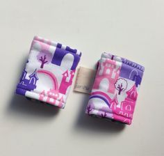 Reversible Carseat Strap Covers Princess Castles by SewSugarPie