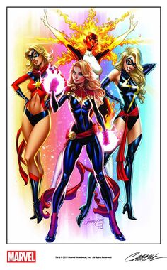 Carol Danvers - Ms Marvel, Binary, Warbird, Captain Marvel by J Scott Campbell Ms Marvel, Marvel News, Marvel Girls, Comics Girls, Marvel Heroes, Marvel Avengers, Thanos Marvel, Xmen, Arte Dc Comics