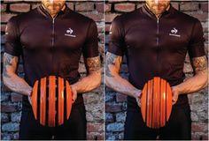 """Folding"" bike helmet stretches to fit any head shape.  http://www.carreraworld.com/"