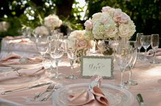 Hawaii Destination Wedding, linens by @Martha Linen:  Sophia and Steven used Wildflower Linen blush table linens and napkins in Crepe Back Satin Blush and then the Carolyn Lace linen overlays in Champagne color.  She also rented our Winston napkin ring which looks like a cluster of diamond rhinestones.