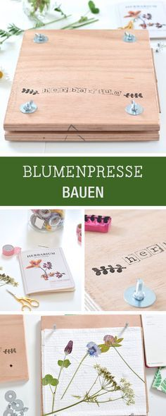 DIY-Anleitung für eine selbstgemachte Blumenpresse / how to craft a flower squeezer, diys for kids via DaWanda.com