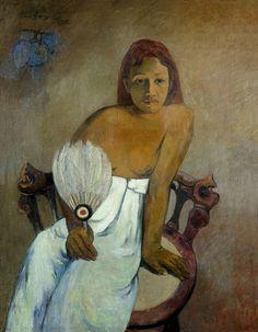Paul Gauguin (1848 - 1903) Muchacha con abanico 1902
