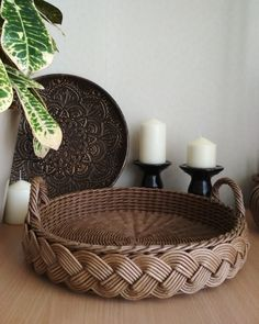 Новости Wicker Tray, Wicker Baskets, Home Decor, Decoration Home, Room Decor, Home Interior Design, Home Decoration, Woven Baskets, Interior Design