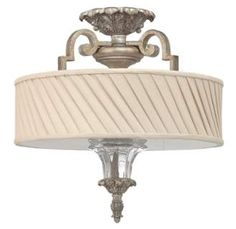 Fredrick Ramond FR42721 3 Light Semi-Flush Ceiling Fixture from the Kingsley Collection Image
