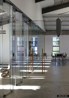 Fabric_Warehouse_Fearon_Hay_Architects | rotating glass doors