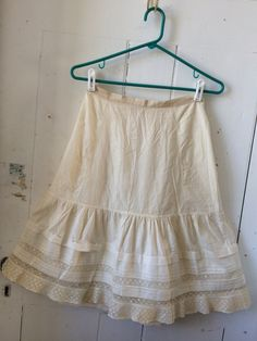 1900s Antique Victorian Petticoat Tea Length by dlcHaberdashery