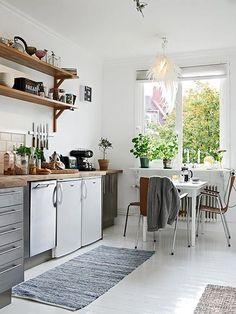 Lichte keuken Zweeds appartement | Inrichting-huis.com