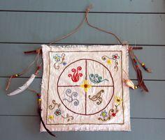Four Elements Hand Embroidered Wall Hanging by CelesteJohnstonArt, $70.00 witch pagan wiccan craft inspiration