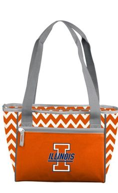 Transport all your favorite snacks and beverages while keeping them cool with the Logo Chair Illinois Chevron 16 Can Cooler Tote