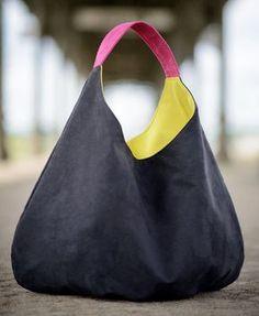 Oversized hobo bag big packable black bag xxl shoulder by bandabag