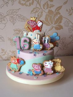 Торты, пряники на заказ в Харькове | ВКонтакте Cool Birthday Cakes, Birthday Parties, Pig Party, Drip Cakes, Cake Toppings, Peppa Pig, Fondant Cakes, Cake Cookies, How To Make Cake