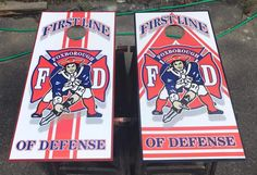 "September 2017 - ""RAFFLE ALERT!!! Custom Foxborough Fire Dept Cornhole Boards Donated for the ""Brandon Scott MacMaster Memorial Scholarship"" $5 per ticket to be raffled off next weekend. Yup, We do that!!! (A lot)"" ~ FarmerSign  Source: https://facebook.com/farmersign/posts/2005791073001105/"