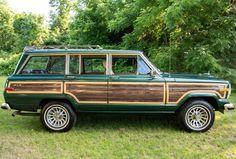 Vintage Pickup Trucks, Vintage Cars, Vintage Stuff, Green Jeep, Jeep Wagoneer, Ford Fairlane, Jeep Grand, Classic Cars Online, Hunter Green