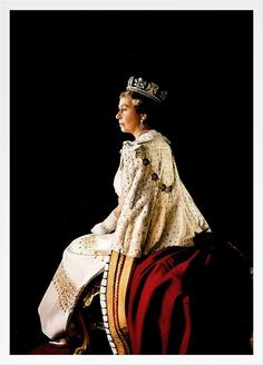 I feel this highlights the aloneness of a monarch, she sis at the head of our country, surrounded by millions of subjects and a loving family but ultimately is the lone head of state.