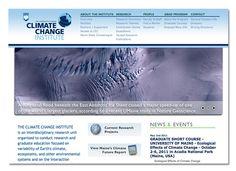 Diseño de sitio web para Climate Change Institute de la Universidad de Maine