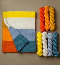 purl soho | products | item | yarn to complete kersti super easy baby blanket (purl soho)