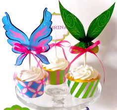 Pixie Tinkerbell Printable Party Cupcake Wrappers and Toppers - LOVE THESE