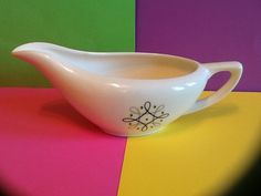Atomic Mid Century Modern Knowles style Gravy Boat by MellowdieMod