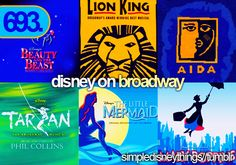 Disney on Broadway! Still magical on AND off screen! Add newsies and Aladdin to this list now