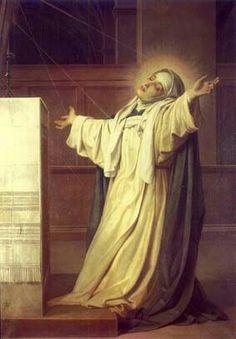 St. Catherine of siena transverberation stigmata