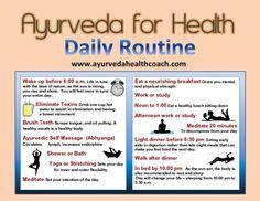 Ayurveda for Health Daily Routine Ayurvedic Healing, Ayurvedic Diet, Ayurvedic Recipes, Ayurvedic Medicine, Holistic Healing, Holistic Medicine, Chakra Healing, Natural Healing, Ayurveda Pitta