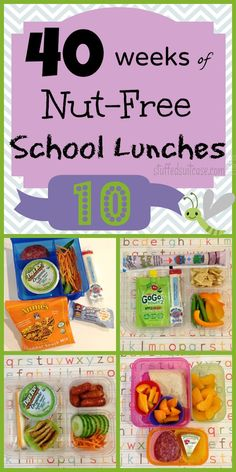 Week 10 of 40 Weeks of Nut Free Kids School Lunches - packed peanut free kid food lunch ideas StuffedSuitcase.com