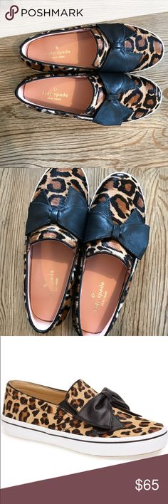 🎉M SALE🎉NWOB KATE SPADE SNEAKER LEOPARD SZ 6 New without box kate spade DELISE slip on sneaker in leopard with a black bow size 6 🎉today sale only! Price firm on Monday sale unless bundled with another item kate spade Shoes Sneakers