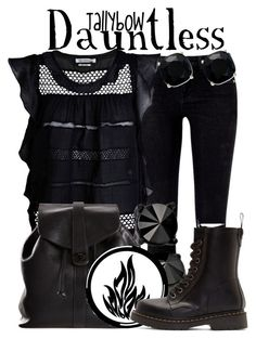 """""""Dauntless"""" by tallybow ❤ liked on Polyvore featuring Étoile Isabel Marant, Jean-Paul Gaultier, Chanel, Dr. Martens and Kate Spade"""