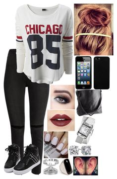 """Untitled #3089 - Outfit of the Day - 1/20/17"" by nicolerunnels ❤ liked on Polyvore featuring H&M, Fiebiger, Fantasy Jewelry Box, A.Jaffe, Emilio Pucci, J.A.K., Blue Nile and Hermès"