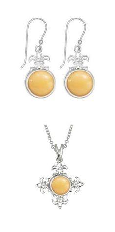 Kameleon Earrings, KE003 & Pendant KP011 with KJP073 Butter Fudge JewelPops