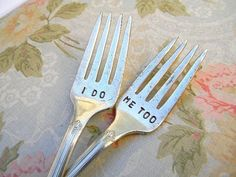 vintage wedding fork set